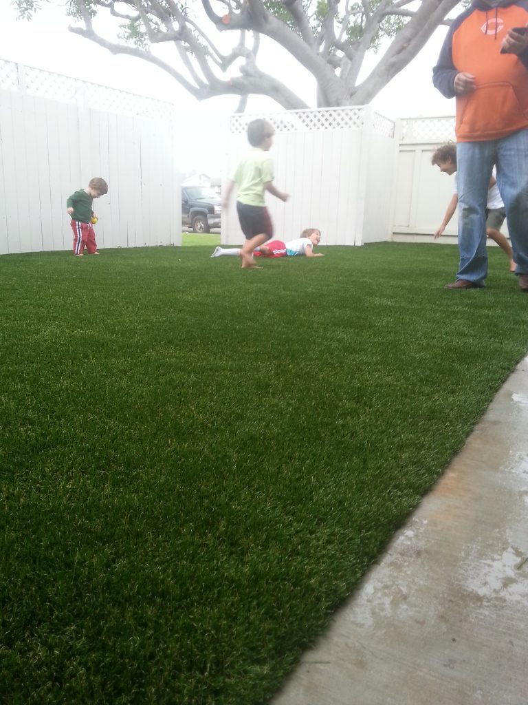 Synthetic Lawn Playground Installation San Marcos, Best Artificial Turf Backyard Playgrounds